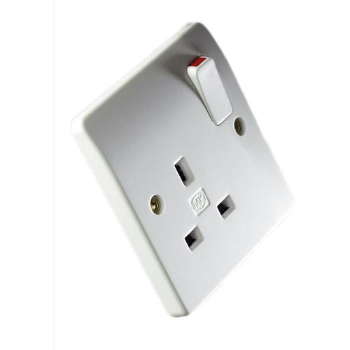 MK Logic Plus Switched Socket White - Trade Angel