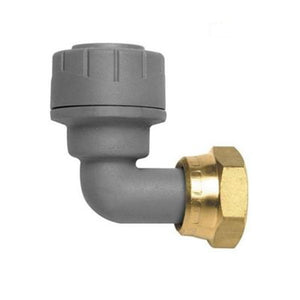 "PolyPlumb Bent Tap Connector - 15mm x 1/2"" - Trade Angel"