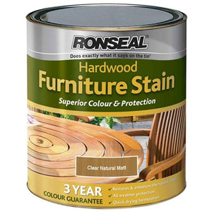 Ronseal - Hardwood Furniture Satin - Clear Natural Matt