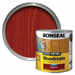 Ronseal - Quick Dry Woodstain - Satin Mahogany - 2.5l