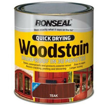 Load image into Gallery viewer, Ronseal - Quick Dry Woodstain - Satin Teak - 2.5l