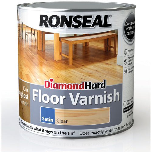 Ronseal - Diamond Hard Floor Varnish Satin - Rich Mahogany