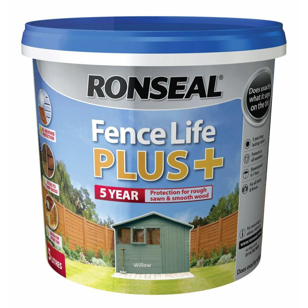 Fence Life Plus Willow This is Ronseal's toughest and most versatile fence and shed treatment yet