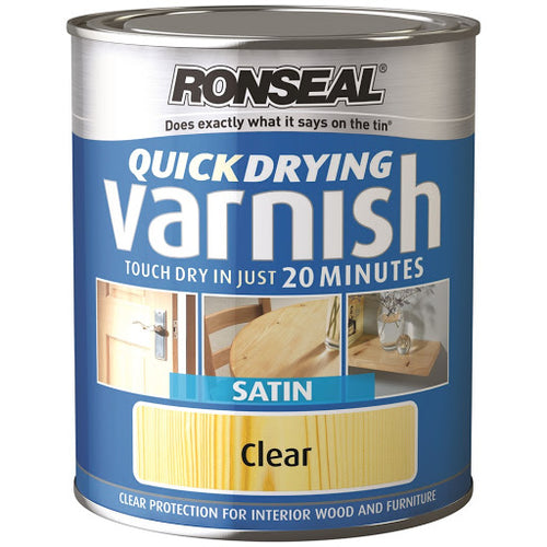 Ronseal - Quick Dry Varnish Satin 0.75l
