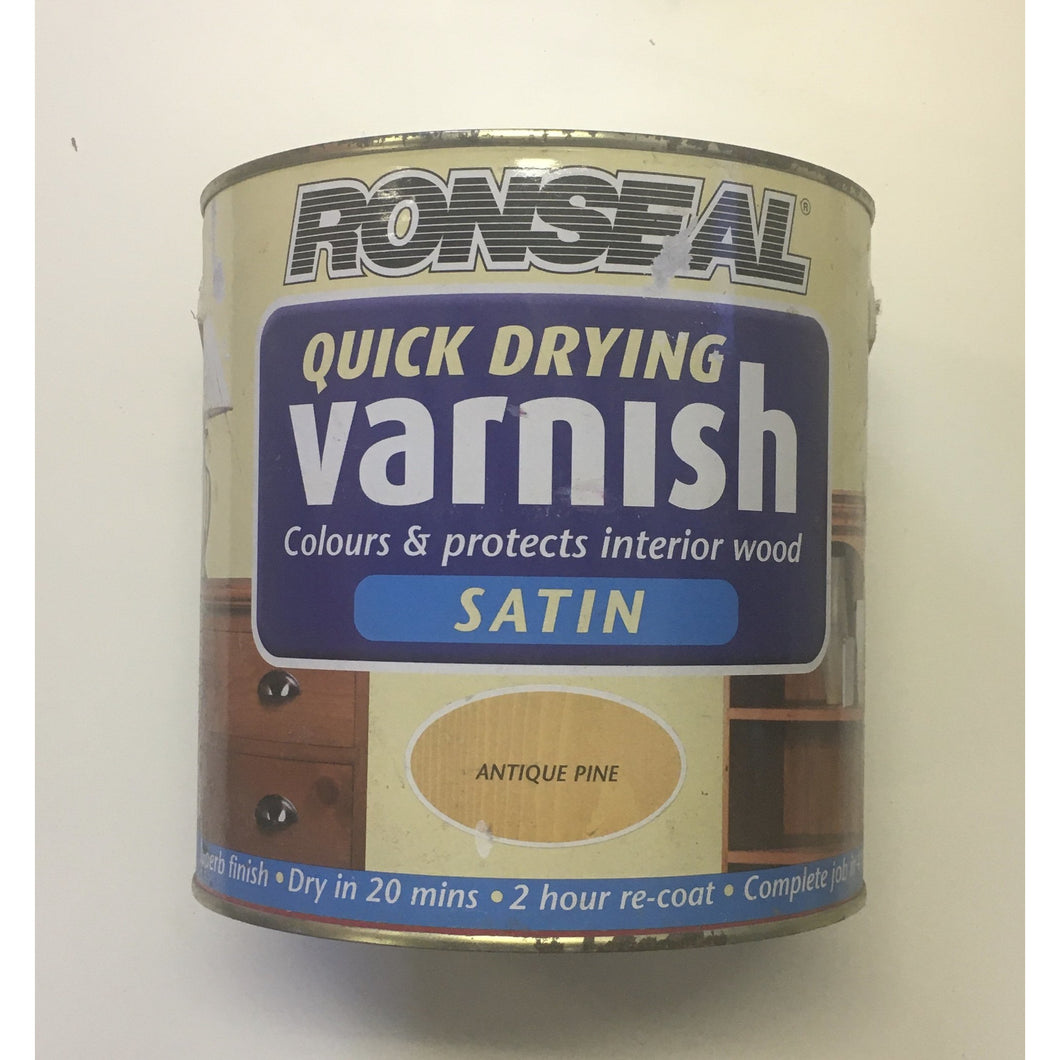 CLEARANCE - Ronseal - Quick Dry Varnish Satin 2.5l