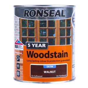 CLEARANCE - Ronseal - 5 Year Woodstain - Satin - 1l