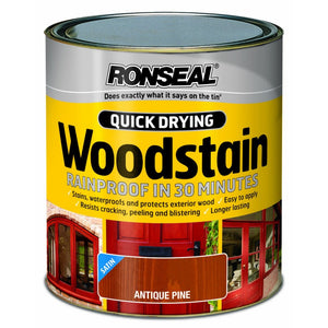 Ronseal - Quick Dry Woodstain - Satin Antique Pine - 2.5l