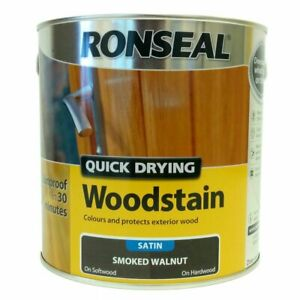 Ronseal - Quick Dry Woodstain - Satin Smoked Walnut - 2.5l
