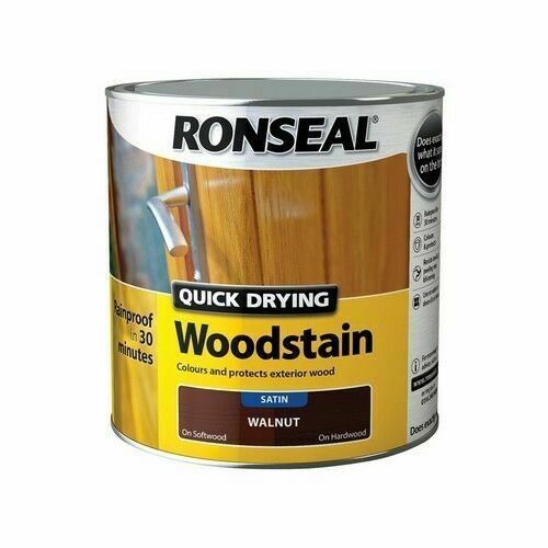 Ronseal - Quick Dry Woodstain - Satin Walnut - 2.5l