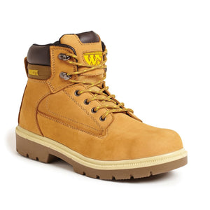 SS613SM Nubuck Wheat Safety Boots - Trade Angel