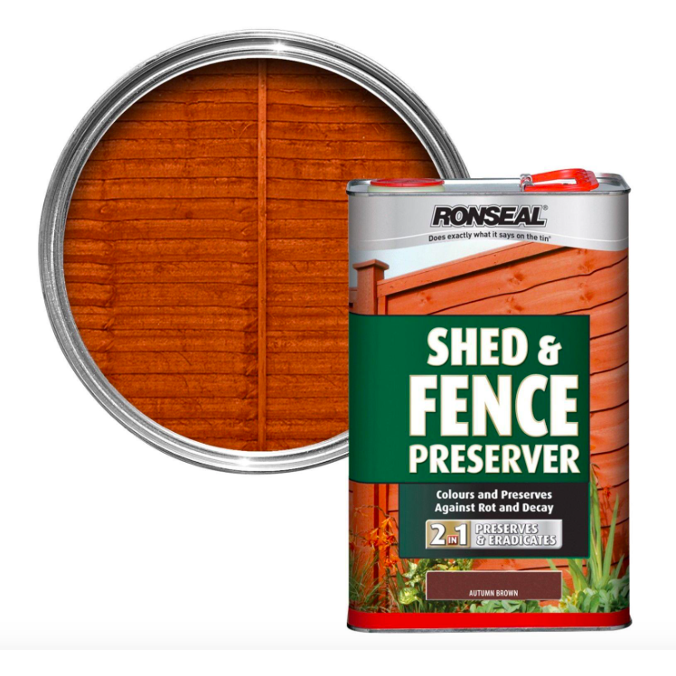 Ronseal - Shed & Fence Preserver Dark Brown 5l