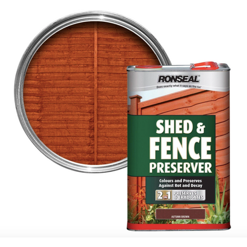 Ronseal - Shed & Fence Preserver Autumn Brown 5l
