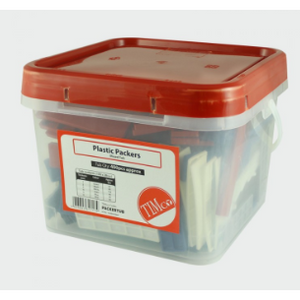 Tub of Assorted Flat Packers - 1mm to 6mm Assorted Packers - 28mm width - 400 per tub - Trade Angel