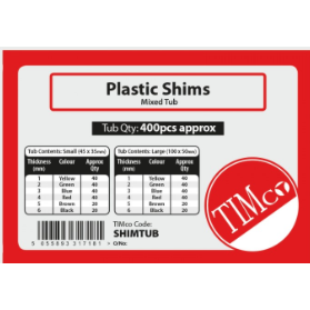 Tub of assorted Horseshoe Shims Tub 1mm to 6mm Assorted Horseshoe Shims - tub of 400 - Trade Angel