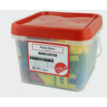 Load image into Gallery viewer, Tub of assorted Horseshoe Shims Tub 1mm to 6mm Assorted Horseshoe Shims - tub of 400 - Trade Angel