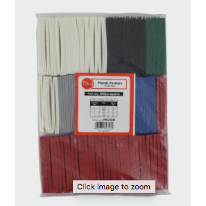 Assorted Flat Packers 1mm to 6mm Assorted Packers - 28mm - bag of 200 - Trade Angel