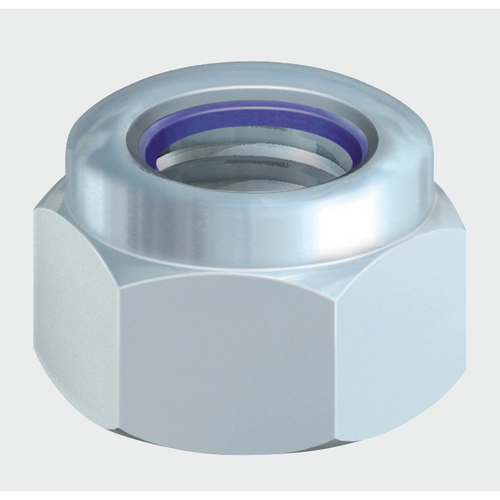 BZP Nylon Locking Nuts (DIN982) - Trade Angel - Steel Nylon Locking Nuts or Nyloc  Nuts Steel Bright Zinc Plated