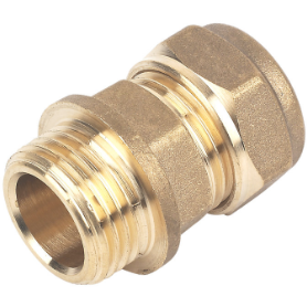 Brass Male Iron To Compression Adaptors - Straight - Trade Angel