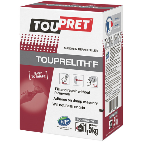 Toupret TOUPRELITH F - Masonry Repair Filler - Exterior - 1.5, 5, 15kg bags - Trade Angel