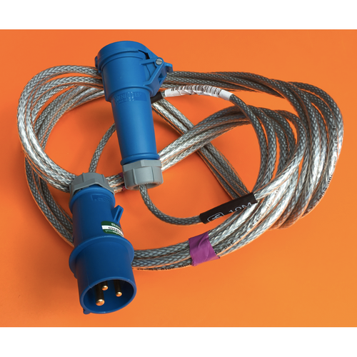 240V SY Cable to 16A blue commando socket to commando plug - various cable lengths - Trade Angel