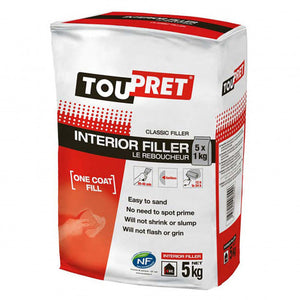 Toupret - Le Reboucheur Interior Filler - 2, 5 & 10 kg bags - Trade Angel