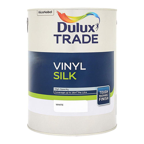 Dulux Trade Vinyl Silk - White 5L