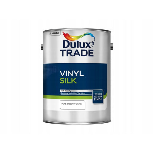 Dulux Trade Vinyl Silk - Pure Brilliant White 2.5L