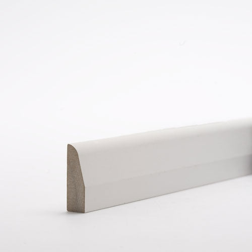 Chamfered & Rounded MDF MR Primed Architrave 2.2m - Trade Angel