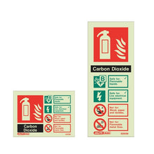 Load image into Gallery viewer, A Range of Photoluminescent Fire Extinguisher Signage 105 x 150mm - Trade Angel