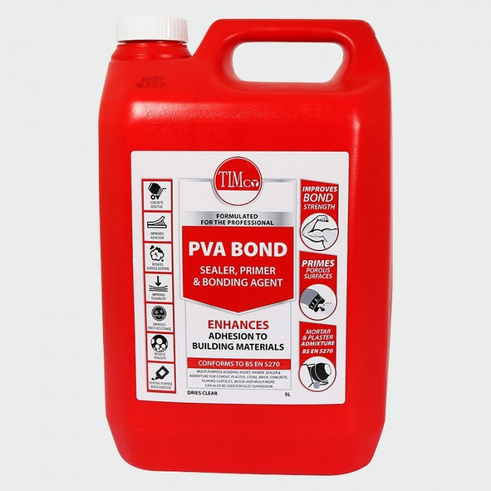 PVA suitable for preparing walls prior to plastering