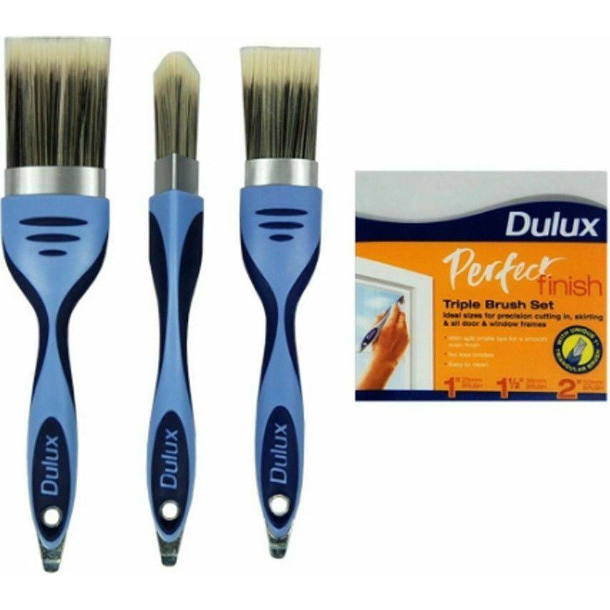 Dulux Perfect Finish Triple Pack Paint Brush Set 1.5