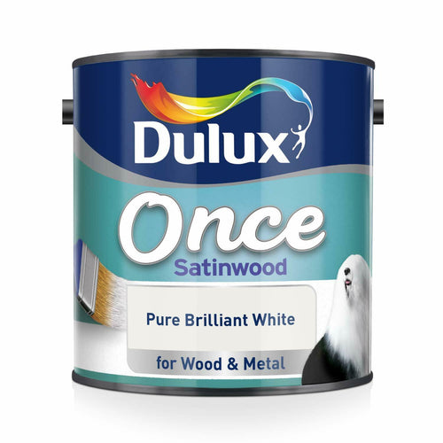 Dulux Retail Once Satin - Pure Brilliant White