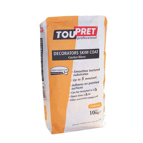 Toupret - Decorators Interior Skim Coat - Cachet Blanc - 5 & 10kg bags - Trade Angel