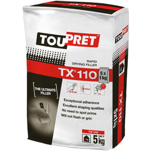 Toupret TX110 Rapid Drying Interior Filler - 2, 5 & 10 kg bags - Trade Angel