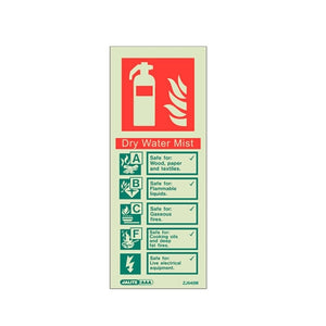 A Range of Photoluminescent Fire Extinguisher Signage 105 x 150mm - Trade Angel