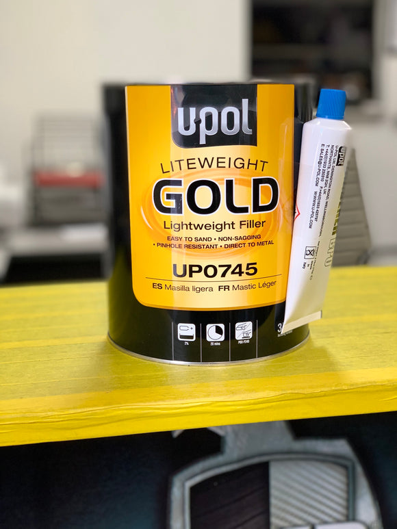 Gold  self leveling body filler