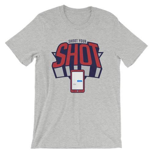 Shoot your shot red/grey Unisex T-Shirt