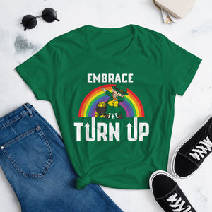 Women's St. Patrick's day turn up tee