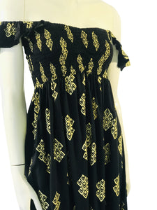 Dress Leialoha Black and Gold