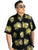Men's Aloha Shirt Black and Gold Hopoelehuaopuna