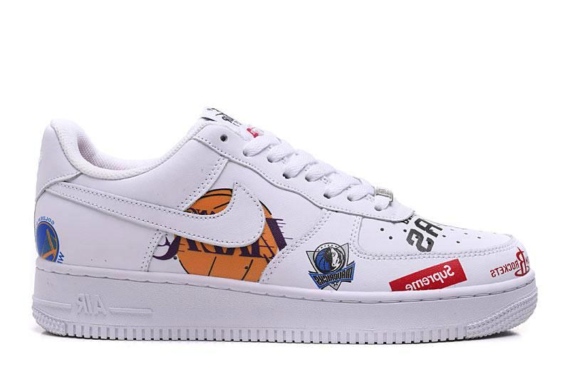 premium selection d283b 01a6b Nike x Supreme Air Force 1 Low nba white