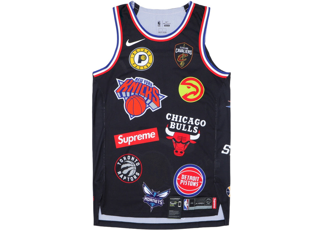 best website 2418a 25498 Nike x Supreme NBA jersey Teams Replica 1:1 Mirror quality ...