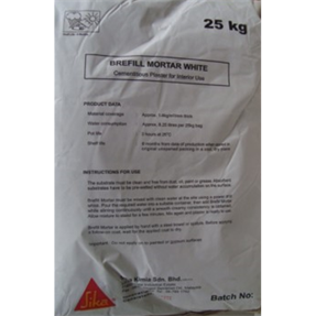 SikaWall Brefill Mortar Base White 25kg Bag
