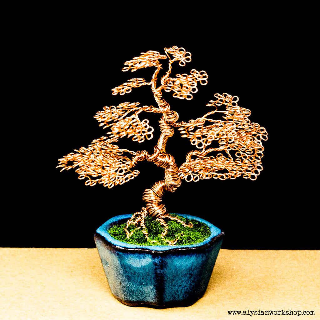 Copper Wire Bonsai In Ceramic Pot Elysian Workshop