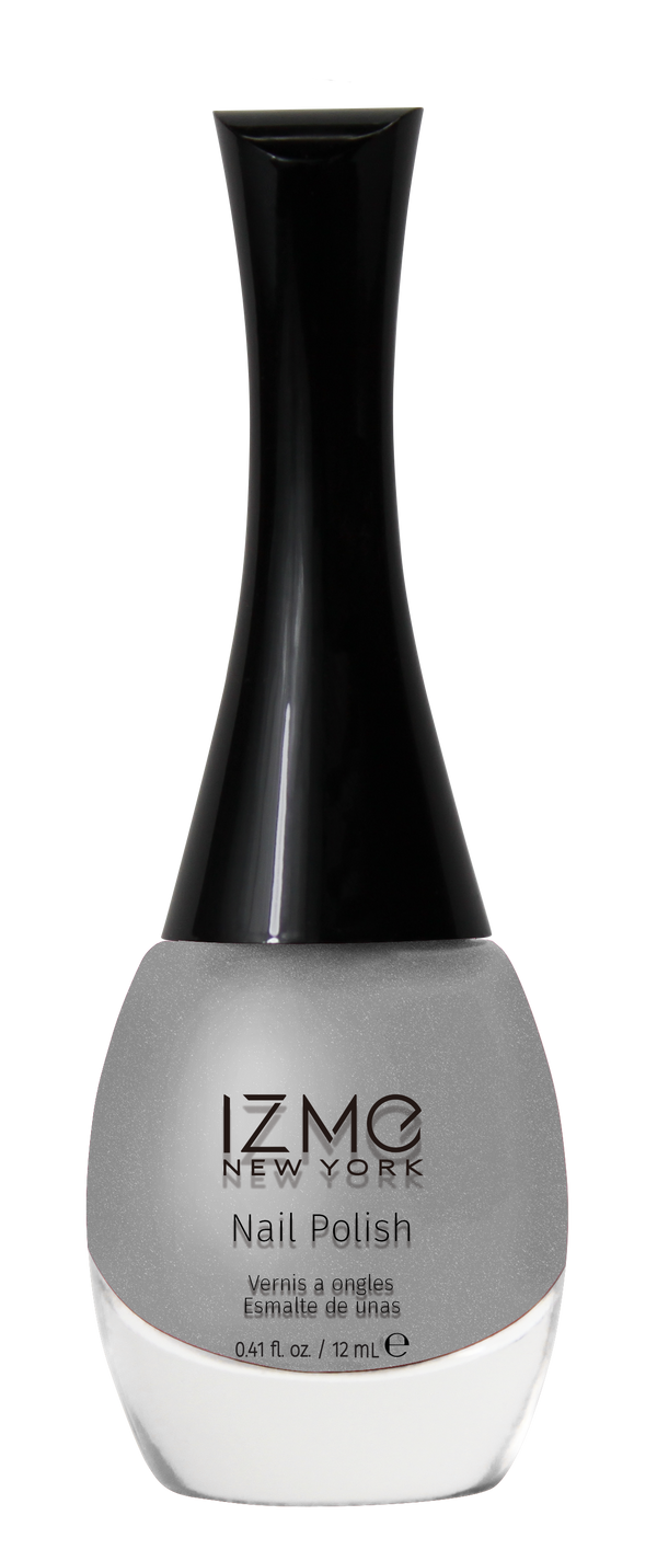 IZME New York Nail Polish – Silky Silver – 0.41 fl. Oz / 12 ml