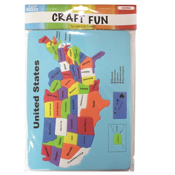 United States Map EVA Foam Puzzle Sheet
