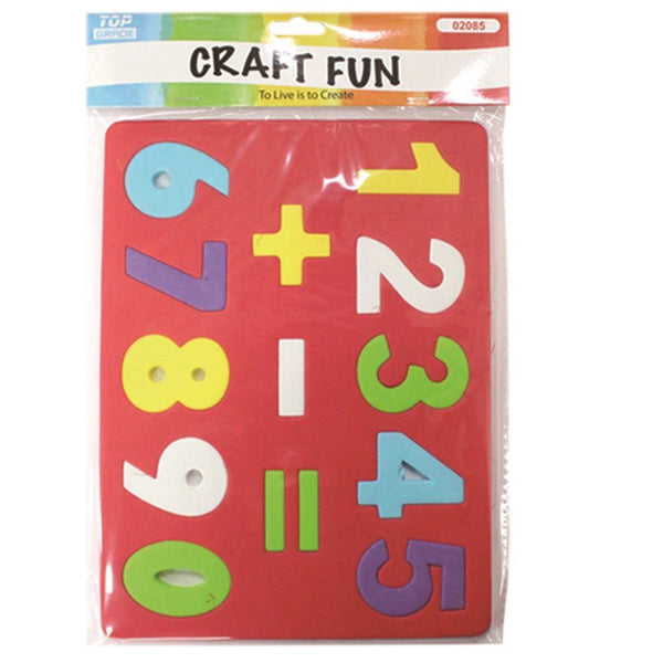 Numbers EVA Foam Puzzle Sheet