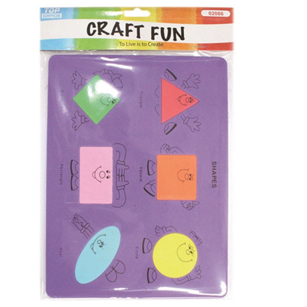 Shapes & Colors EVA Foam Puzzle Sheet