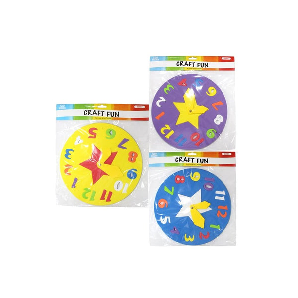 Learning Clock EVA Foam Puzzle Sheet