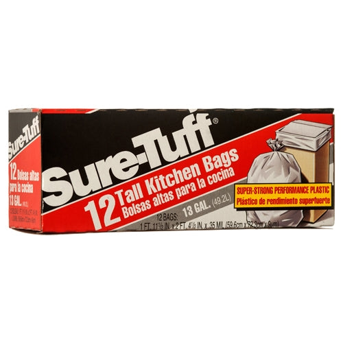 Sure-Tuff 13 Gallon Tall Kitchen Bags, 12 ct.